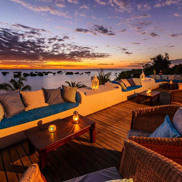 Sunsets at Ibo Island Lodge are best enjoyed from the Sky Bar. © Ibo Island Lodge