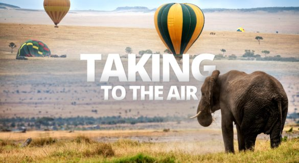There's nothing quite like floating and flying over wild landscapes on an African safari.