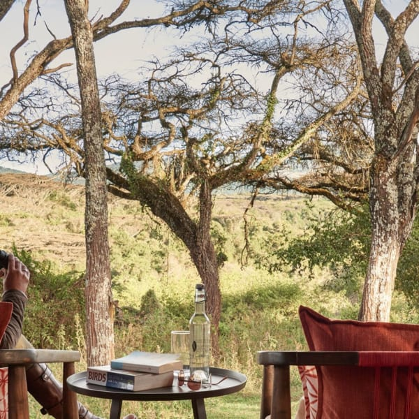 Bird watch from your deck at Sanctuary Ngorongoro Crater Camp. © Sanctuary Retreats