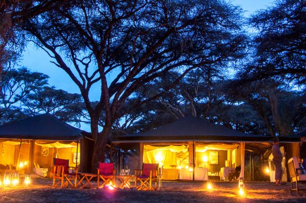 Sanctuary Ngorongoro Crater Camp offers 10 classic safari tents.