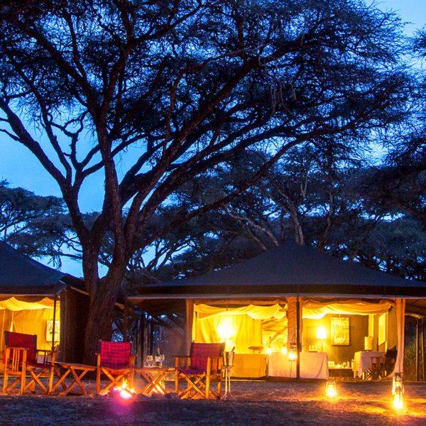 Sanctuary Ngorongoro Crater Camp offers 10 classic safari tents.