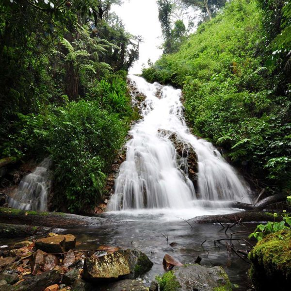 There are gorgeous waterfalls to discover in Bwindi. © Sanctuary Retreats