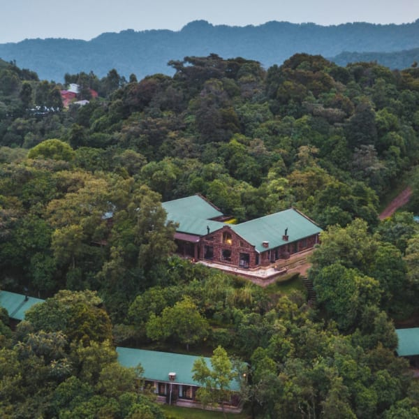 Clouds Mountain Gorilla Lodge is set high on the Nketo Ridge, between the Bwindi Impenetrable National Park and the Virunga volcanoes. © Uganda Safari Company