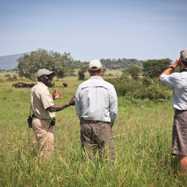 Go for a walk in the wilderness from Apoka Safari Lodge. © Uganda Safari Company