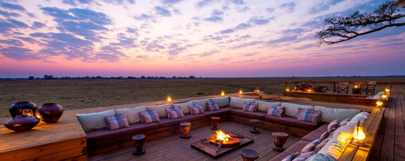 Campfire sunsets at Shumba Camp are something else.