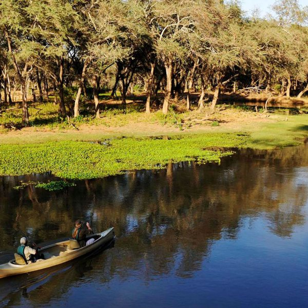 Explore the waters of Old Mondoro by canoe.