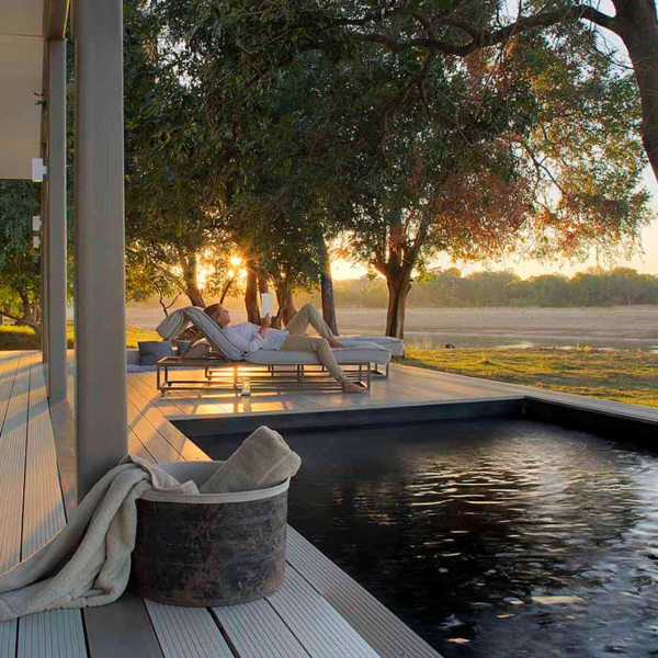 Chinzombo's villas have private plunge pools | Zambia Safari