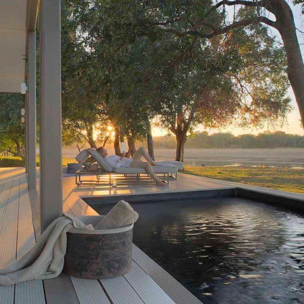 Chinzombo's villas have private plunge pools. © Time + Tide