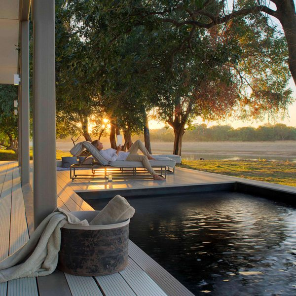 Chinzombo's villas have private plunge pools.