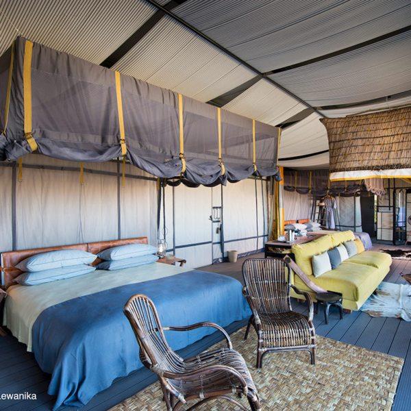 King Lewanika Lodge has six guest villas. © Time + Tide