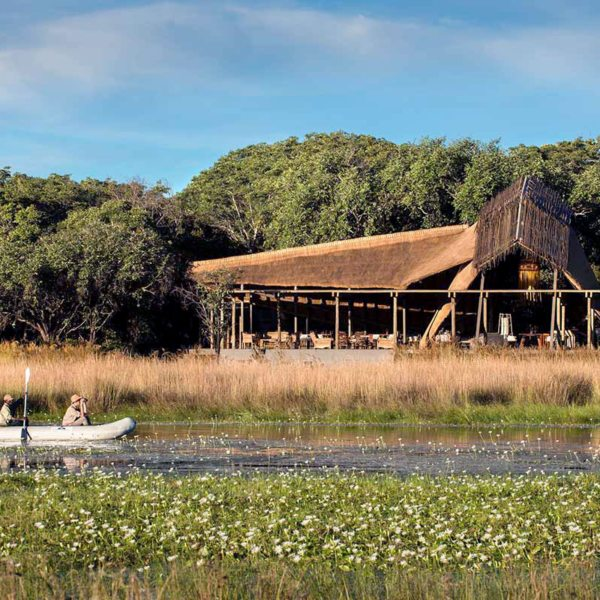 After the rains you can canoe the waters near King Lewanika Lodge. © Time + Tide