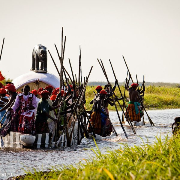 At the right time of year you can witness the Kuomboka ceremony at King Lewanika Lodge. © Time + Tide