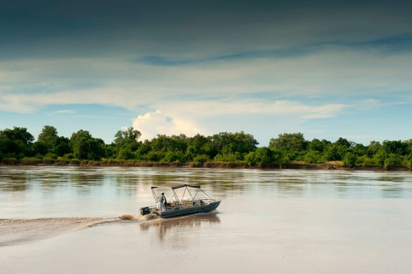 Nkwali offers exclusive boat and pontoon access into the wildlife-rich South Luangwa National Park. © Robin Pope Safaris