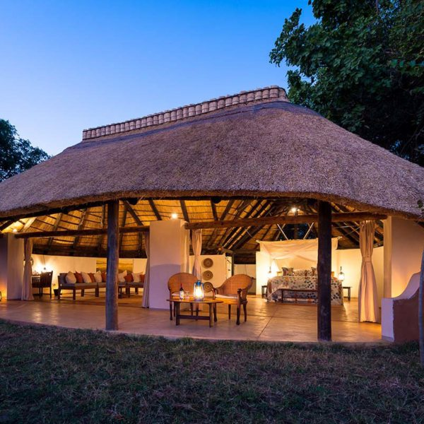 On your Zambia walking safari you'll spend your first night at Nkwali. © Robin Pope Safaris