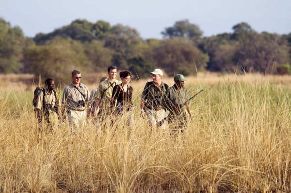 Your party will be protected at the front and the rear during your Zambia walking safari. © Robin Pope Safaris