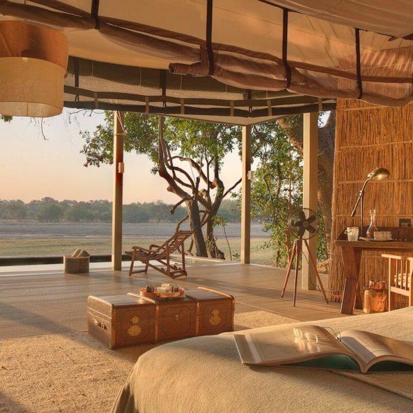 Chinzombo's villas all face onto the river. © Time + Tide