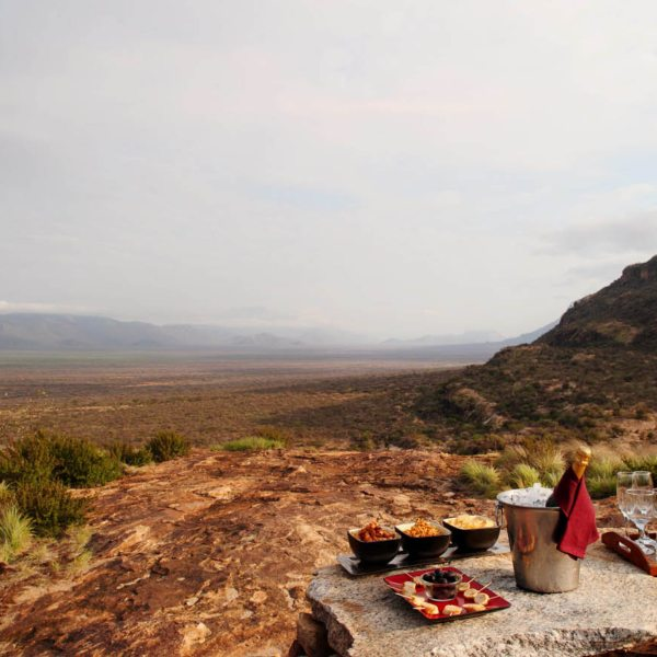Enjoy sundowner snacks when staying in a family villa at Saruni Samburu.