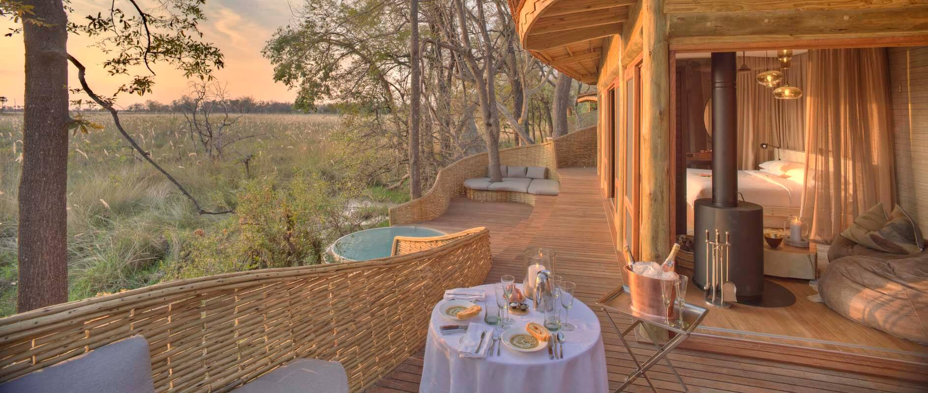 Botswana_OkavangoDelta_andBeyondSandibe_Wildlife_Private Dining In Room