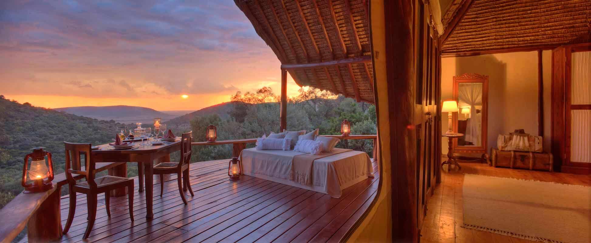Kenya_MasaiMara_SaruniMara_Love Shack Honeymoon Suite_Private Dining_View