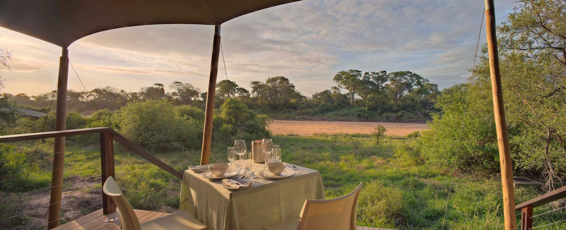 SouthAfrica_GreaterKrugerNationalPark_andBeyondNgalaTentedCamp_Tent View Private Dining