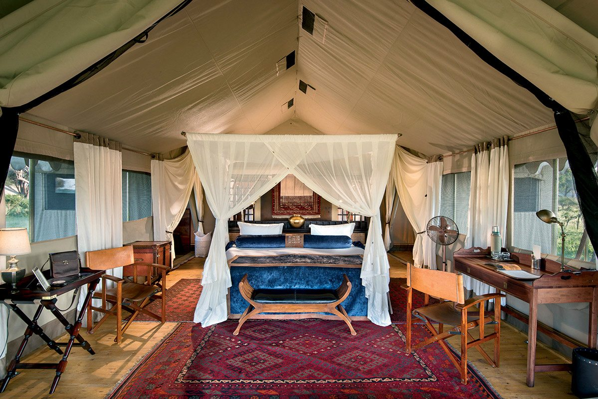 Luxury safari tents come equipped wth everything you need to be comfortable from desk l&s to directorsu0027 chairs. © Great Plains Conservation & African Safari u0026 Beach Holidays | Art Of Safari