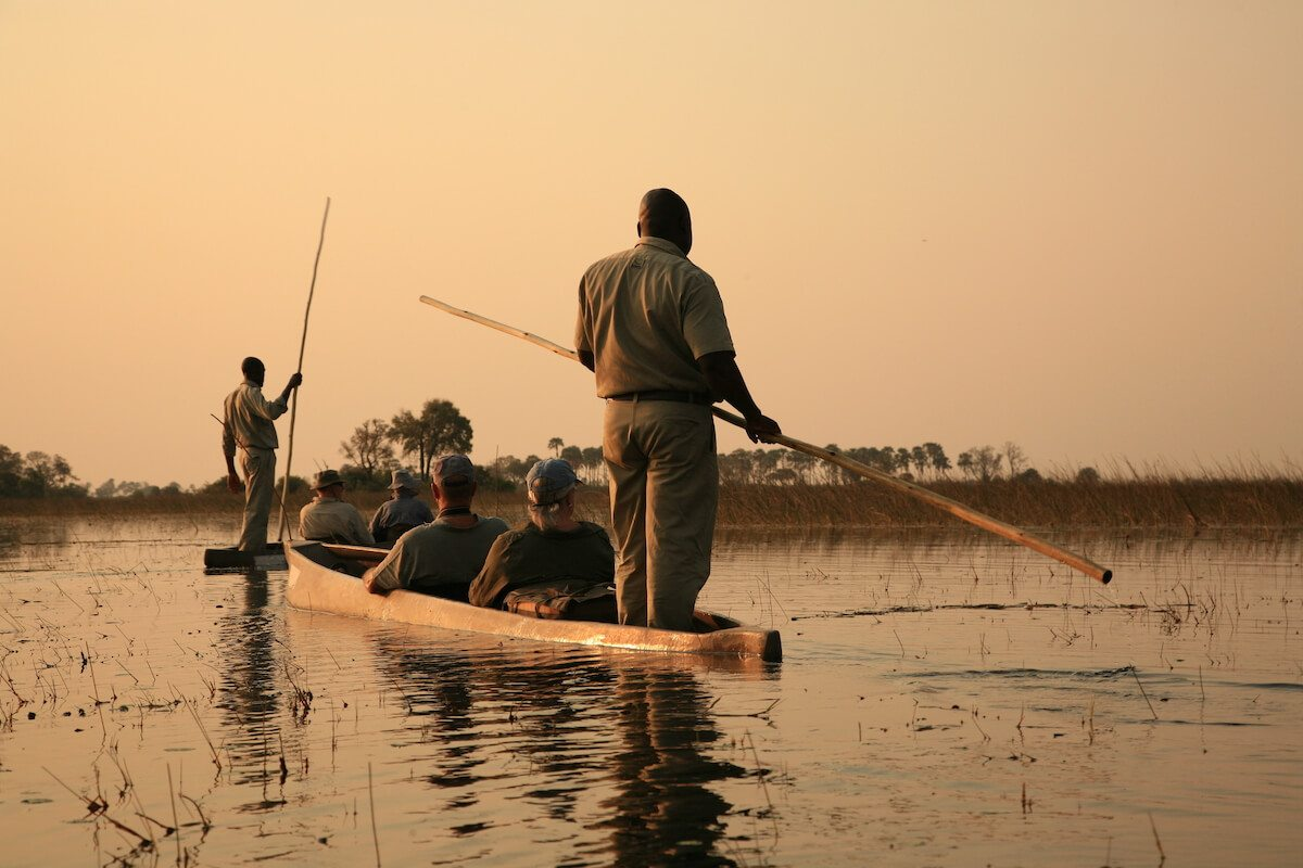 Mokoro excursions on the Okavango Delta are only possible in winter.