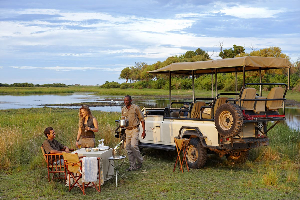 Sundowners In The Bush On African Safari Honeymoons Are Wonderful Wilderness Safaris