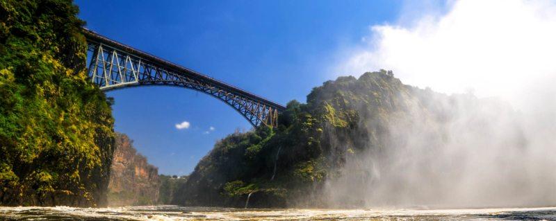 You'll cross the iconic Victoria Falls Bridge on your train safari.