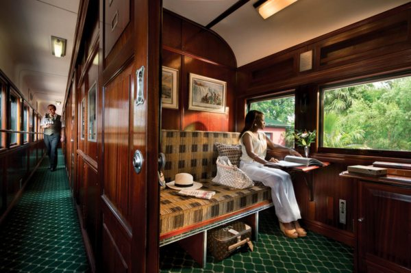 The bed in the pullman suite converts to seating during the day. © Rovos Rail