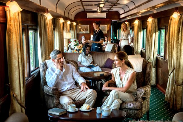 Tea in the lounge car will be a daily ritual with Rovos Rail. © Rovos Rail