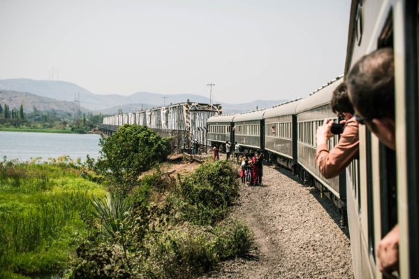 The excitement of travelling over bridges, like Kafue, never gets old. © Rovos Rail