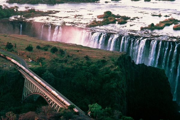 You'll never forget seeing Victoria Falls from The Pride of Africa. © Rovos Rail