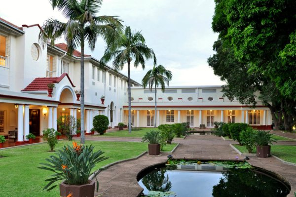 You'll overnight at the elegant Victoria Falls Hotel during this luxury train safari. © Victoria Falls Hotel