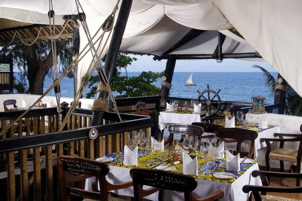 Serena Beach Resort & Spa has several restaurants. © Serena Hotels