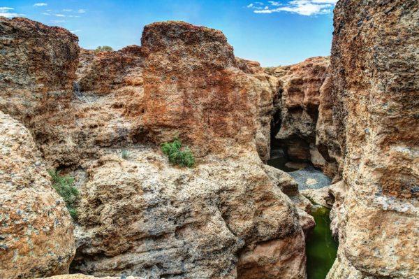 Sesriem Canyon is breathtakingly beautiful.