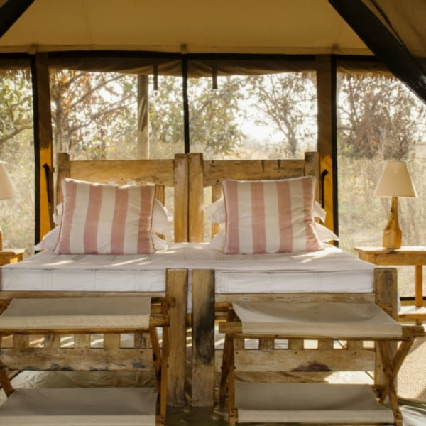 The tented suites at Kigelia Ruaha are light and airy. © Nomad Tanzania