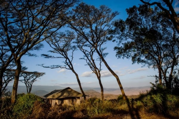 Entamanu Ngorongoro is set on the crater rim. © Nomad Tanzania