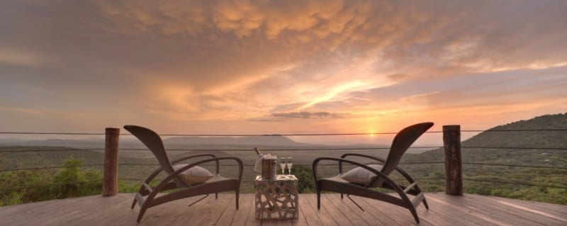 Cottar's Bush Villa has magnificent views over the Masai Mara. © Cottar's 1920 Camp