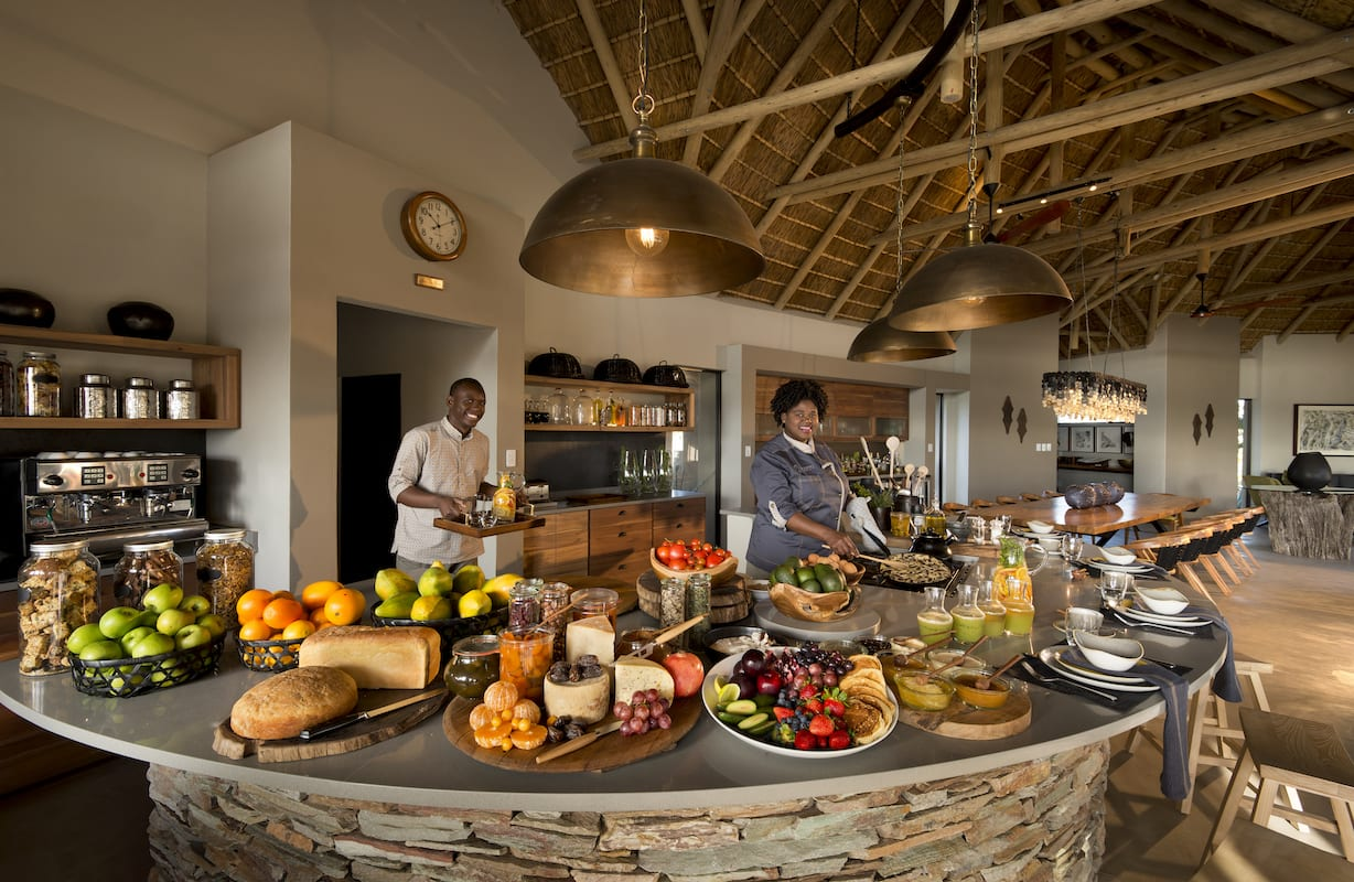 After your game drive or walk, it's time to indulge in a gourmet breakfast spread. © RockFig Safari Lodge
