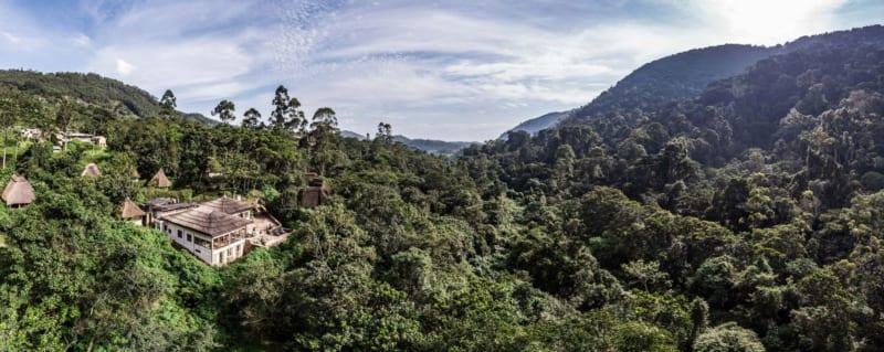 Bwindi Lodge is on the edge of Bwindi Impenetrable Forest. © Volcanoes Safaris
